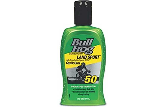 BullFrog Land Sport Quik Gel Sunscreen SPF 50
