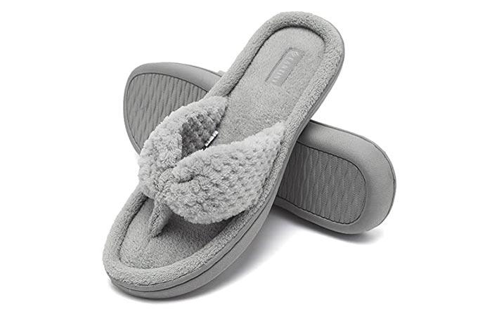 CIOR Fantiny Women's Memory Foam Spa Flip Flops