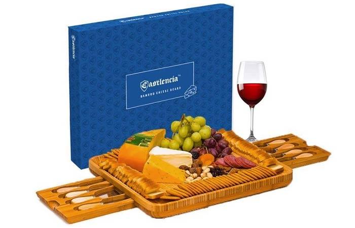 Castlencia Bamboo Cheeseboard Cum Serving Platter
