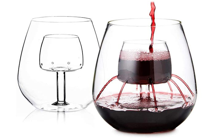 Chevalier Collection Stemless Aerating Wine Glasses