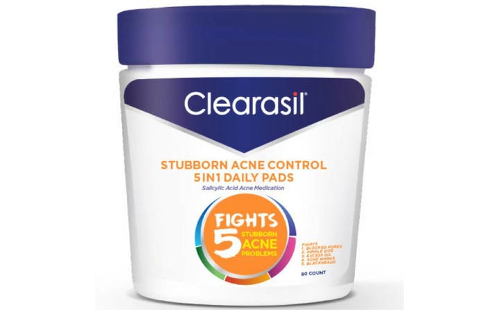 Clearasil Stubborn Acne Control 5-In-1 Daily Pads