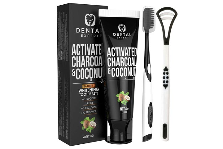 Dental Expert Activated Charcoal And Coconut Teeth Whitening Toothpaste