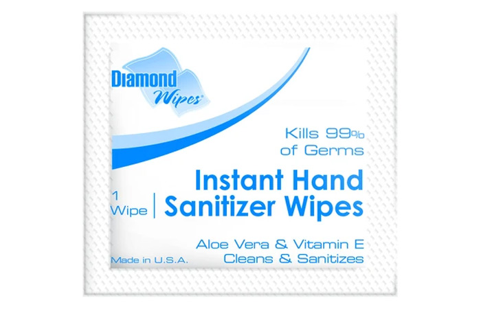 Diamond Wipes Instant Hand Sanitizer Wipes