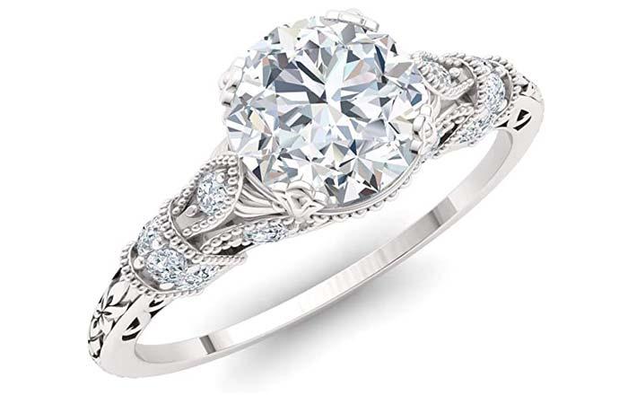 Diamondere Diamond And Gemstone Engagement Ring