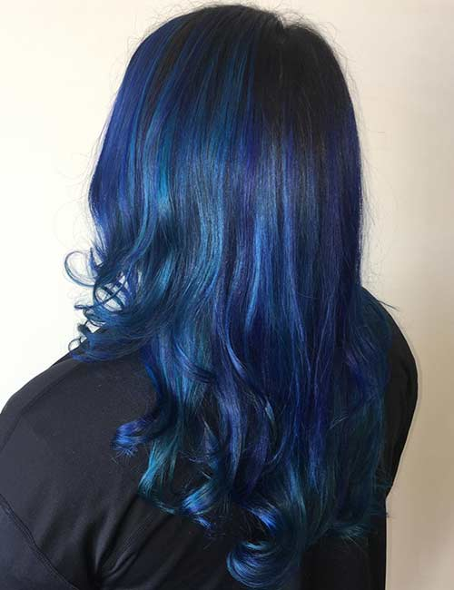 Dimensional Blue With Purple Hints