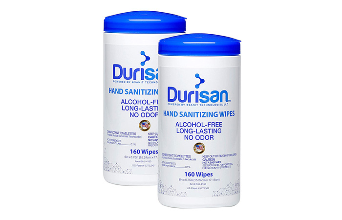Durisan Antimicrobial Germicidal Disinfectant Hand Sanitizing Wipes