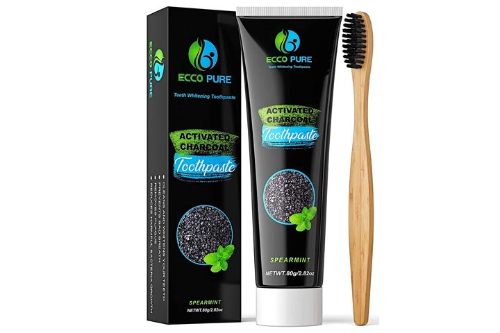 Ecco Pure Activated Charcoal Teeth Whitening Toothpaste