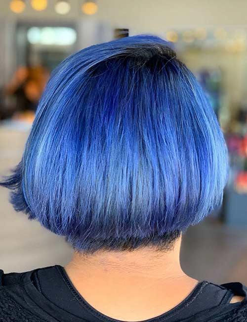 Electric Blue Pop With Subtle Purple Hints