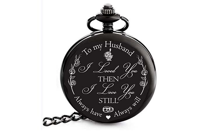 Frederick James Engraved Pocket Watch