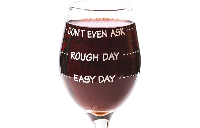 Funny Guy Mugs Don't Even Ask Measuring Wine Glass