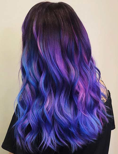 Galaxy Blue And Lavender