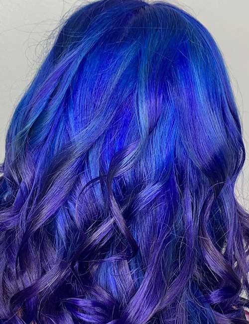 Glossy Bright Blue And Deep Purple