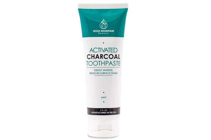 Gold Mountain Beauty Activated Charcoal Toothpaste