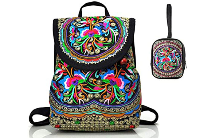 Goodhan Vintage Embroidered Women Backpack