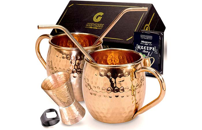 GoodyGoods Moscow Mule Copper Mugs