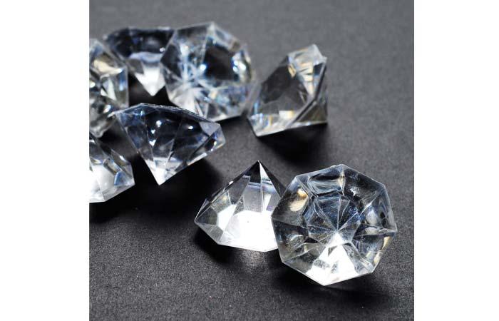 HYBEADS 2 Pounds Of Clear Acrylic Diamonds
