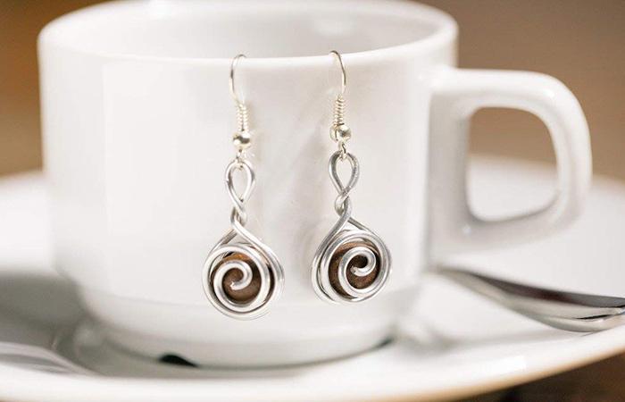 Handmade Coffee Bean Earrings
