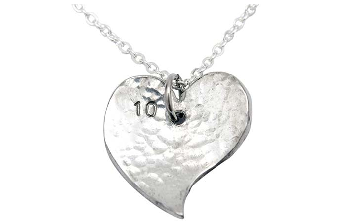 Heart-Shaped Tin Necklace
