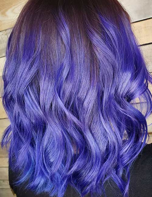 Intense Periwinkle And Magenta Purple