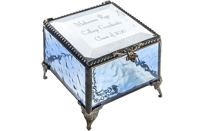 J Devlin Glass Jewelry Box
