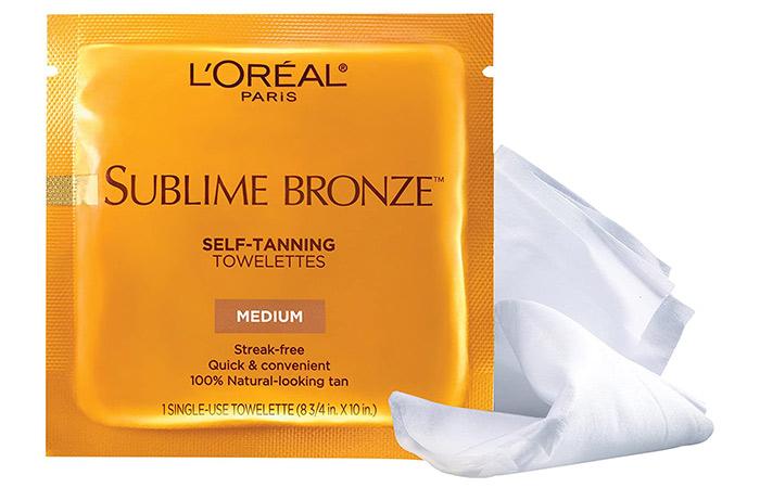 L'Oreal Paris Sublime Bronze Self-Tanning Towelettes (6 Nos.)