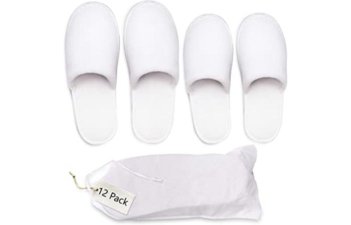 LY Closed-Toe Spa Slippers