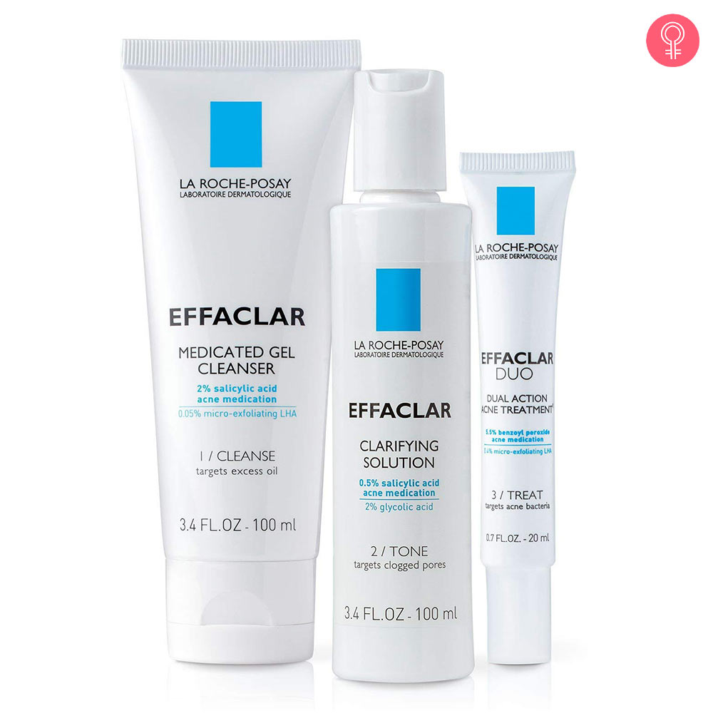 La Roche-Posay Effaclar Dermatological 3-Step Acne Treatment System
