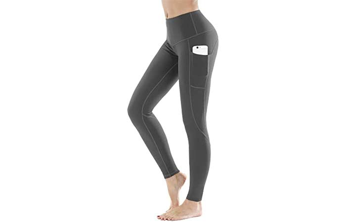 LifeSky High Waist Yoga Pants Capri Workout Leggings