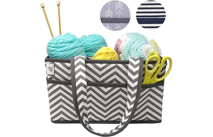 Little Grey Rabbit Knitting Storage Caddy Bin And Organizer Basket