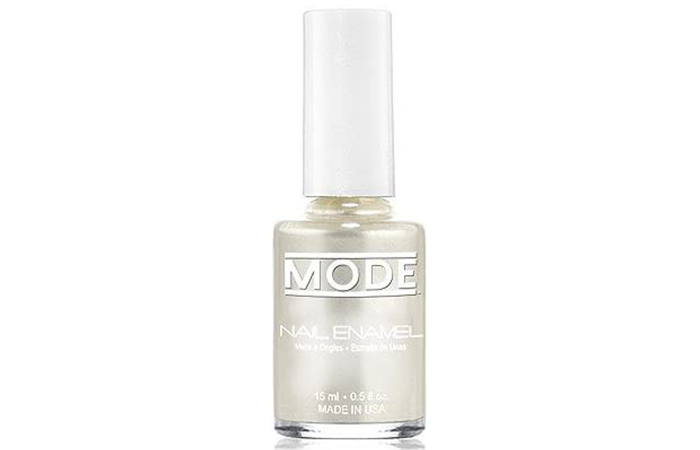 MODE Cosmetics Nail Enamel – Luxurious Snow White Pure Frost Pearl