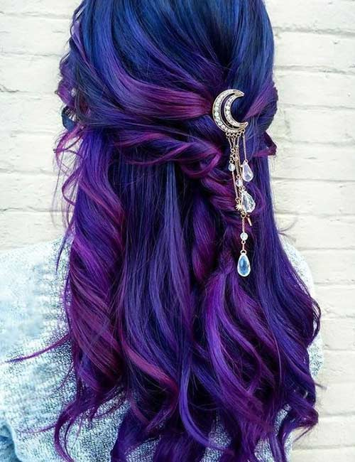 34 Stunning Blue And Purple Hair Colors