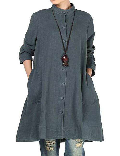 Mordenmiss Women's New Cotton Linen Jacket