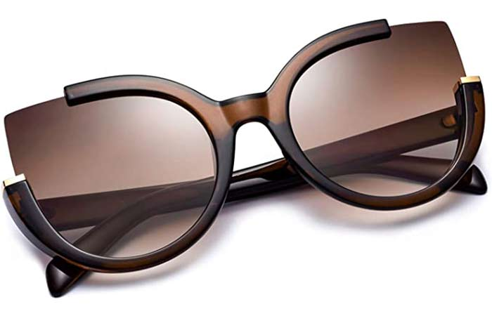 Mosanana Oversized Cat Eye Sunglasses