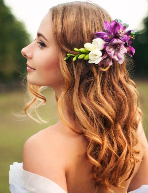 Offen halten Braut Friseuren