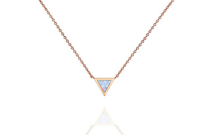 PAVOI 14K Gold Plated Opal Necklace
