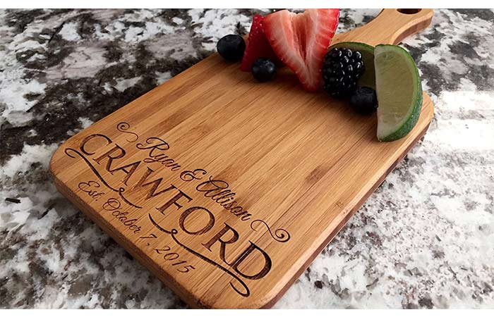 Personalized Custom Engraved Bamboo Wood Cutting Board