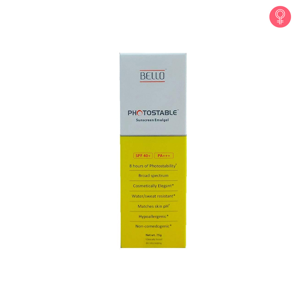 Photostable Sunscreen Emulgel SPF 40+