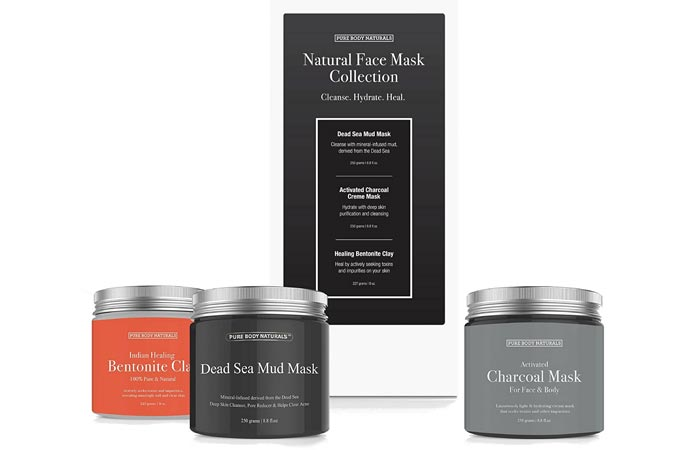 Pure Body Naturals Natural Face Mask Collection