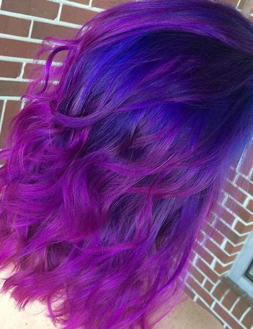 Rainbow Blue And Purple