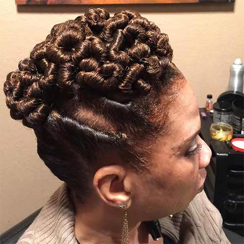 Rolled Flat Twists Updo