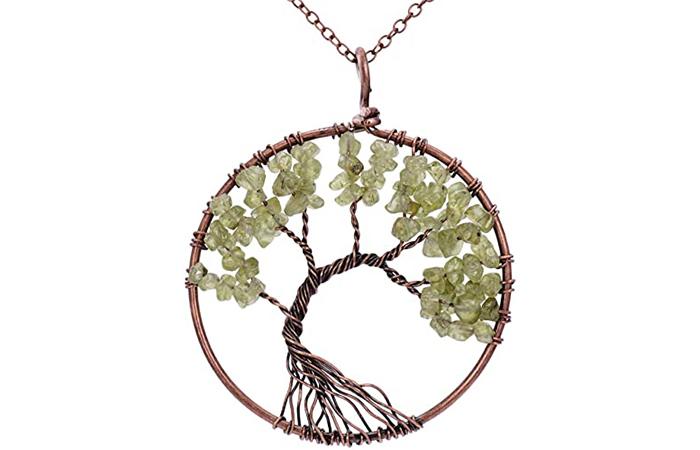 Sedmart Tree Of Life Crystal Pendant
