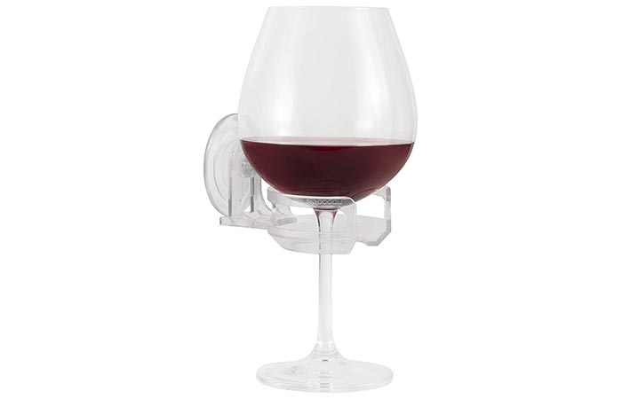 SipCaddy Bath Shower Portable Cupholder Caddy For Beer And Wine