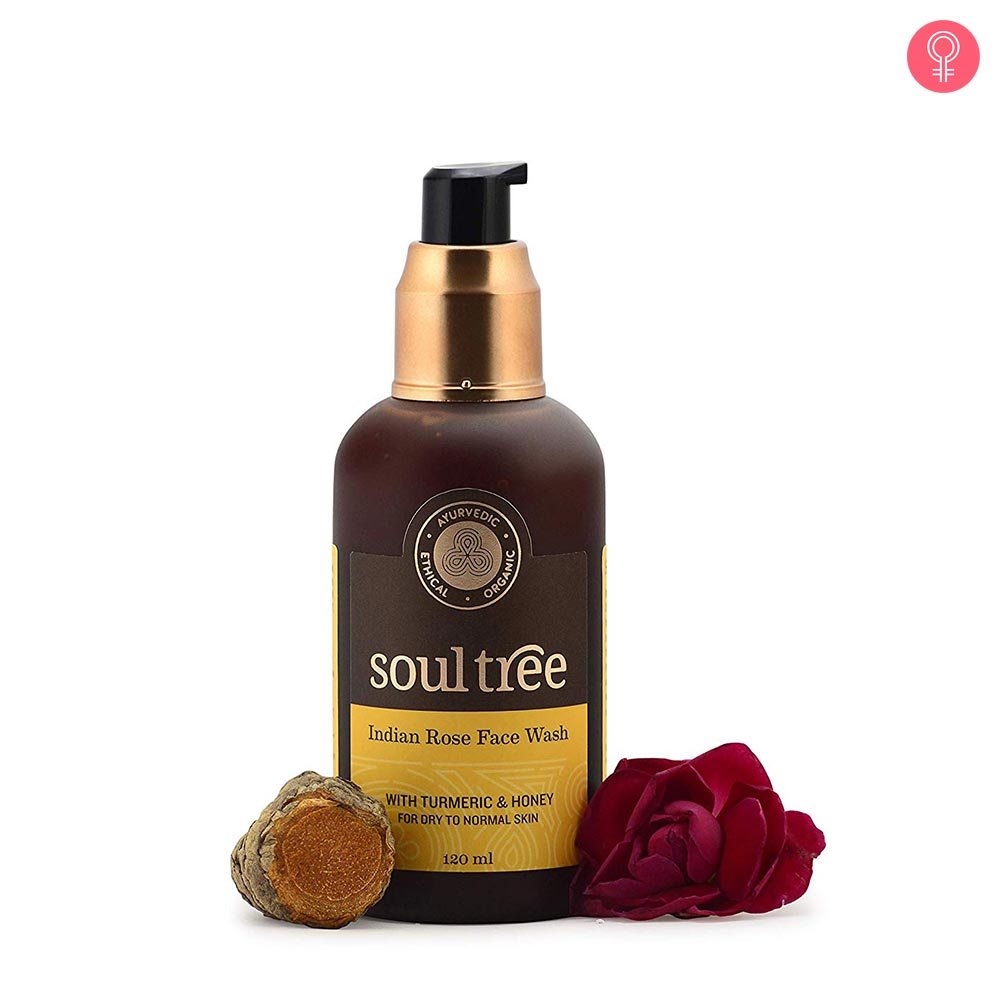 SoulTree Indian Rose Face Wash With Turmeric & Honey