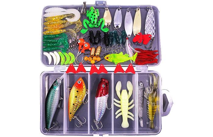 Sptlimes 77-Pcs Fishing Lures Kit