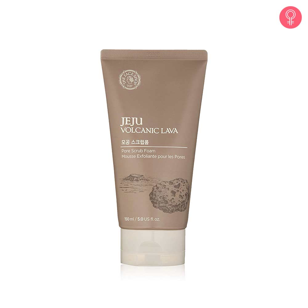 The Face Shop Jeju Volcanic Lava Scrub Foam