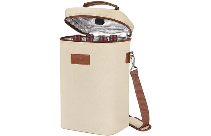 Tirrinia Insulated & Padded 4-Bottle Wine Carrier