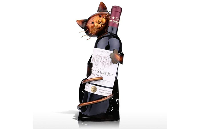 Tooarts Cat-Shaped Wine Holder