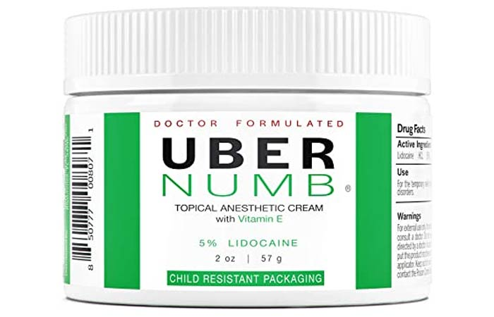 Uber Numb 5 Lidocaine Topical Numbing Cream