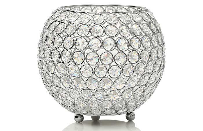 Vincigant Silver Crystal Bowl