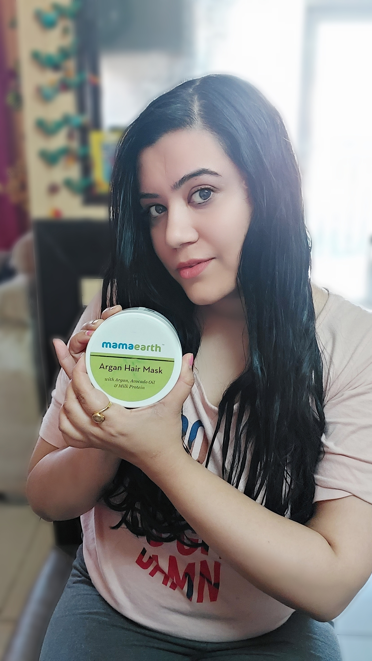 Mamaearth Argan Hair Mask pic 2-Extremely helpful for frizzy hair-By alittleflaunt